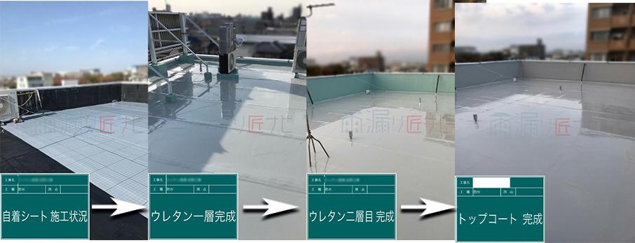 屋上の防水層