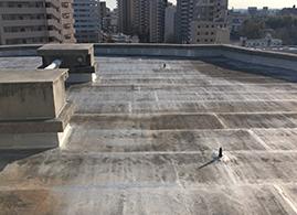 昭和区のマンション屋上防水塗装工事前