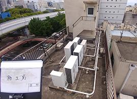 自社ビル屋上防水塗装工事施工前