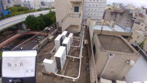 自社ビルの屋上防水塗装工事雨漏り対策